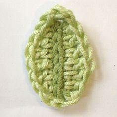 free easy crochet leaf pattern on rubyandcustard.com