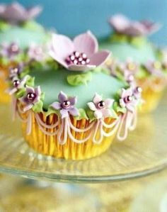 Beautiful designer couture cupcake