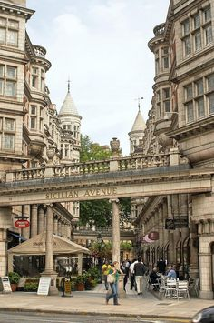 Sicilian Avenue ~ is a beautiful pedestrian shopping street in the Holborn District of central London.