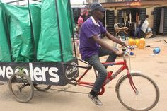 Pedal-powered recycling program allows low-income communities to turn waste into value