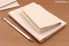 Midori MD Notebook Cover - Goat Leather - A5 {will darken over time}