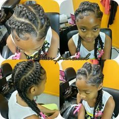 Braids Lil Girl Hairstyles, Natural Hairstyles For Kids, Kids Braided Hairstyles, Nice Hairstyles, Children Hairstyles, Kids Hairstyle, Toddler Hairstyles, School Hairstyles, Protective Hairstyles