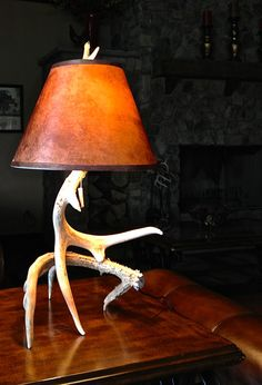 Natural Deer Antler Lamp // Handmade with Real by TheCabinGiftShop, $149.00