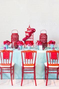 A Journey Down The Modern Silk Road - WedLuxe Magazine Chinese Party, Chinese Theme, Chinese Style, Chinese Birthday, Chinese New Year Decorations, New Years Decorations, Wedding Decorations, Table Decorations, New Year Designs