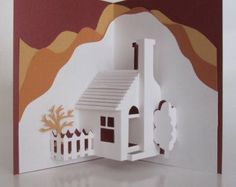 Home Pop-Up 3D Card Home Décor Origamic Architecture by BoldFolds