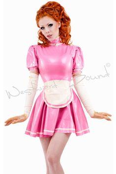 Mirabell Latex Maid's Dress.. Product code R1381. www.westwardbound.com. www.facebook.com/westwardbound.latex.