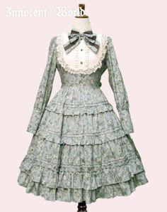 Innocent World ~ Antique Doll Dress Blue gray×Beige