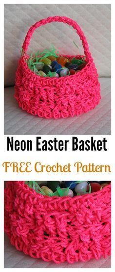 Neon Easter Basket FREE Crochet Pattern