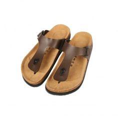 Cork Footbed Slippers (Brown)