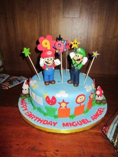 Birthday cake at a Mario Party #cake #mario