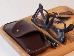 Leather Sunglasses Case glasses cover leather glasses by HeyFish