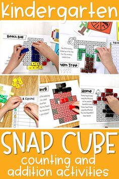 If you are working on counting in kindergarten or kindergarten addition, these snap cube activities are a great option! These activities are great in math centers kindergarten or math rotations for first grade.