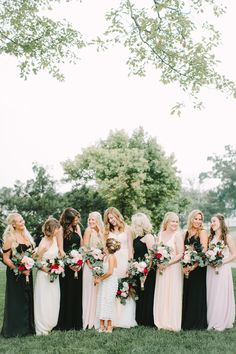 Mix and Match Bridesmaid Dress Ideas | Bridal Musings Wedding Blog 15 But with sparkles