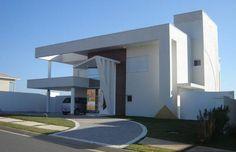 40 Fachadas de casas modernas e esculturais maravilhosas! - Decor Salteado - Blog de Decoração e Arquitetura #casasmodernasfachadasde