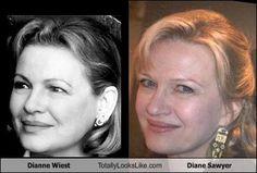 Dianne Wiest Totally Looks Like Diane Sawyer