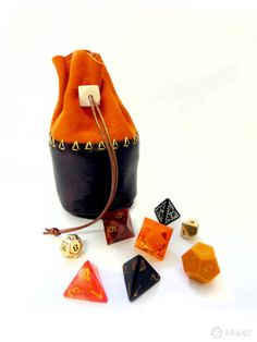 the lava pit - genuine leather dice pouch | r-n-w