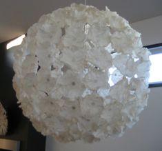 DIY - Ikea PS Maskros Pendant Lamp - (Coffee Filters) #DIY #IKEA http://www.bobbysocksqc.com/blog/?p=400