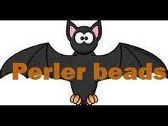 Perler bead bat earrings