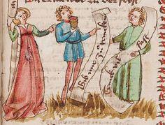 Wolfenbüttel, Herzog August Bibliothek,  Thomasin <Circlaere>   Welscher Gast (W) — Süddeutschland, 3. Viertel des 15. Jhs. Cod. Guelf. 37.19 Aug. 2° Folio 44r