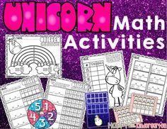 Happy Little Kindergarten: Kindergarten Unicorn Math Centers: Guided Math Fun!