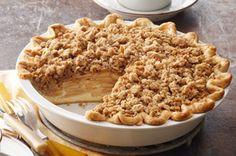 Dutch Apple Pie: This is the BEST apple pie I have ever had! No Bake Desserts, Just Desserts, Dessert Recipes, Kraft Recipes, Dessert Ideas, Dutch Apple, Apple Pie Recipes, Apple Pies, Fall Recipes