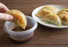 Vegetable Potstickers with Spicy Dipping Sauce   Handful of Raspberries