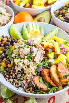 Cuban Mojo Pulled Pork Quinoa Bowls with Pineapple Salsa Recipe