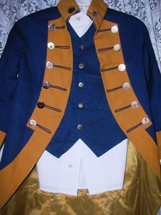 George Washington Jacket with Tails  Vest & by TheIDconnection, $125.00