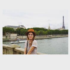 Parisian style, hat I found at vintage store in Paris,dress @isabelmarant ❤️