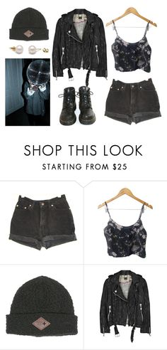 """""""Grunge"""" by abigail-15-love ❤ liked on Polyvore featuring Levi's, Billabong, Doma and Dr. Martens"""
