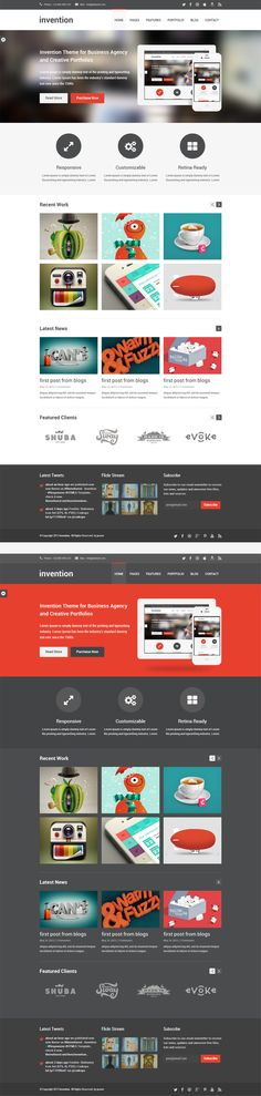 Invention - Responsive HTML5 Template We can do most of this : ) -Misha