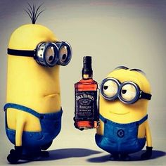 All things Jack Daniel's: Photo Minion Gif, Cute Minions, Funny Minion Memes, My Minion, Minion Rush, Minion Banana, Whiskey Girl, Cigars And Whiskey, Whisky