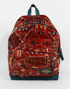 Shop Eastpak x House of Hackney Limied Edition Velvet Backpack in Carpet Print. With a variety of delivery, payment and return options available, shopping with ASOS is easy and secure. Shop with ASOS today. Hippie Backpack, Red Backpack, Rucksack Bag, Backpack Bags, Fashion Backpack, Mochila Hippie, Eastpak Bags, Carpet Bag, Red Bags
