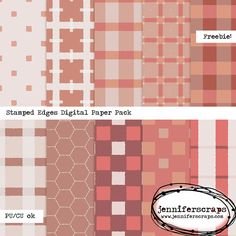 Scrapbooking TammyTags -- TT - Designer - Jennifer Scraps, TT - Item - Paper