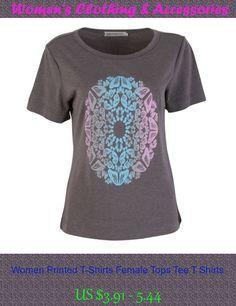 Women Printed T-Shirts Female Tops Tee T Shirts