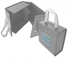 foldable box with magnets and handle