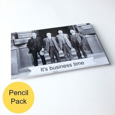 Going forward things are getting strategic. That's right, it's business time. New job, promotion, graduation: all occasions for the Business Time pencil pack. $10.00 Job Promotion, New Job, How To Plan, How To Make, Graduation, Stationery, Packing, Pencil, Business