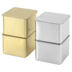 IKEA - HEMSMAK, Tin with lid, The tins are perfect for dry goods that need storing in a dark place, like tea or spices.