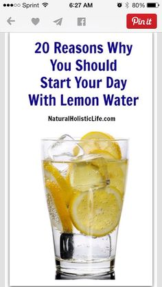 20 Reasons Why You Should Start Your Day With lemon Water...