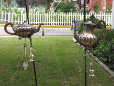 Mr. and Mrs. Pots Tea Pot Windchimes