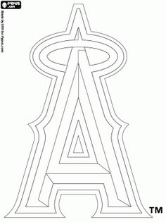 los angeles angels coloring pages - photo#6
