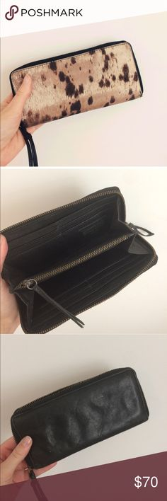 All saints pony hair wallet Amazing wallet was my favorite lightly used payed over $100 bc most pony hair has rubbed off price reflects it All Saints Accessories