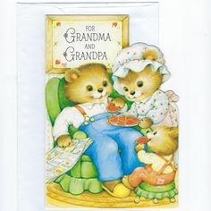 Vintage Valentine for Grandparents – Retro Valentine's Day Card for Grandma and Grandpa – Image of Bears Eating Cookies – Happy Valentine's Day Cards Valentines Day Cards Handmade, Happy Valentines Day Card, Valentine Cookies, Vintage Valentines, Bear Images, Cards For Boyfriend, Grandma And Grandpa, Cards For Friends, Printable Cards