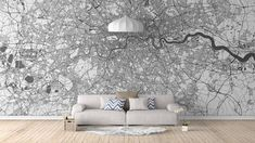 City Map Murals - Many Cities