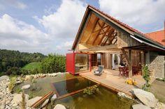 Hundefreundliche Ferienhäuser mit Pool und Terrassen-Sauna