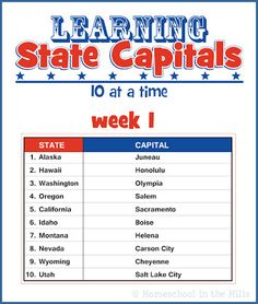 Your kids will love learning geography with these FREE state capital printables!