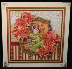 VICTORIAN CHRISTMAS GIFT Mini Kit with Decoupage on Craftsuprint designed by Janet Briggs - made by Yvonne Middleton
