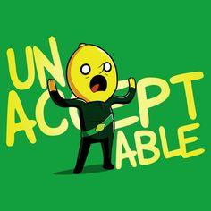 Unacceptable! T-Shirt Adventure Time TeeTurtle