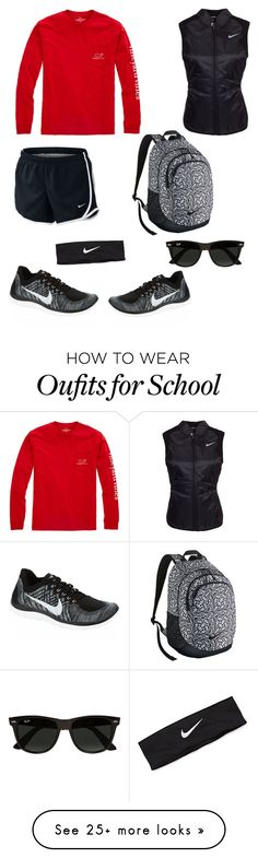 """School then golf everyday"" by ironman8995 on Polyvore featuring Vineyard Vines, NIKE and Ray-Ban"