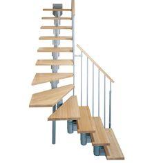 """Arke Kompact Grey 35 in. Modular Staircase """"L"""" Kit"""